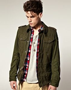 I admit it, I like the combo of the flannel and the olive drab
