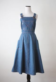 vintage 1970's Levi's overall dress