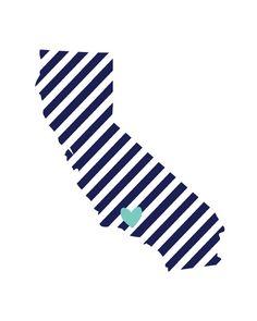 California Stripe  8x10 print  Choose your by sweetteaandsparkles, $15.00
