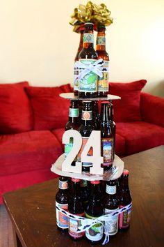 24th Birthday Beer Cake I made for my boyfriend! #pinterestwin #diy #hobbylobby…