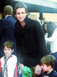 eddie redmayne WITH A HARRY POTTER CHILD   This is perfect