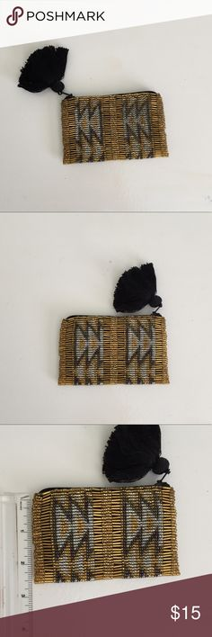"""West Elm hand headed Change purse New, this is hand beaded in Guatemala. Measures 4.5"""" X 3"""" west elm Accessories Key & Card Holders"""
