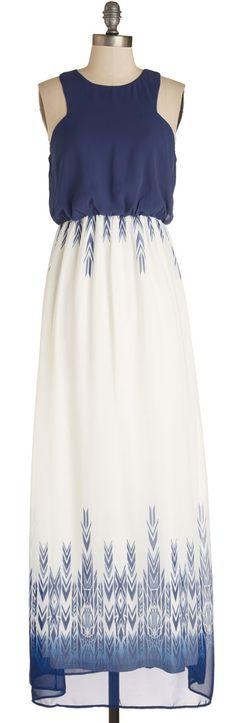 print hem maxi dress