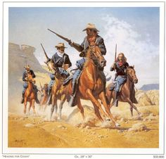 western scenes pictures | Western Paintings & Prints - Western rugs home decor cowgirl
