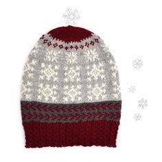 Design: Linda Brodin Monster, Snowflakes, Knitted Hats, Beanie, Knitting, Design, Fashion, Moda, Snow Flakes