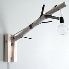 Branch Wall Lamp #DIY