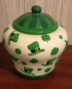 St. Patrick's Day Cookie Jar by Cheryl & Co.