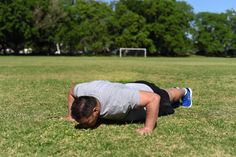 Walking Push Up. Step Five: Lower your body until your chest touches the ground, Then push your body back up and move your hands and feet side ways in the opposite direction.
