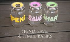 Spend, Save, and Share Banks - Nearly Crafty