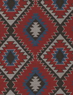 Tomahawk Red Fabric by Andrew Martin V Collection, Red Fabric, Wild West, Textures Patterns, All Design, Fabric Design, Swatch, Bohemian Rug, Carpet