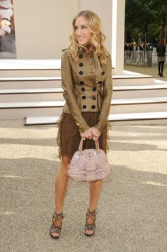 Celeb fashionistas during London Fashion Week