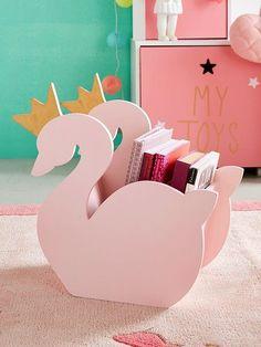 Petit #rangement Cygne #rose - Une boîte de rangement pleine de charme avec sa jolie forme de #cygne ! Plus qu'un rangement, un #ObjetDéco vraiment sympa qui amènera une touche #poétique dans sa #ChambreD'Enfant