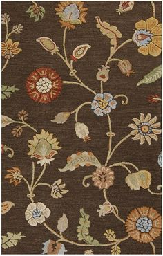 Surya SRT2000 Sprout Brown Rectangle Area Rug