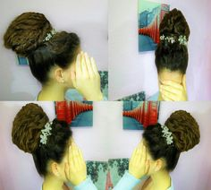 An elegant decorated wedding updo! 👍