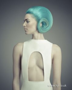 Nathan Jasztal, 2012, alternative girl, hairstyle, blue hair, future girl, futuristic fashion, future fashion, futuristic look, modern by FuturisticNews.com