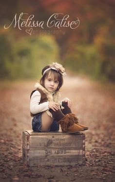 Melissa Calise Photography (Toddler Portraits Girl Posing Ideas Fall Trees)