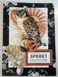 Harry Potter Karten, Harry Potter Cards, Halloween 2015, Halloween Cards, Anna Griffin, Card Making Inspiration, Owl, Scrapbook, Card Ideas