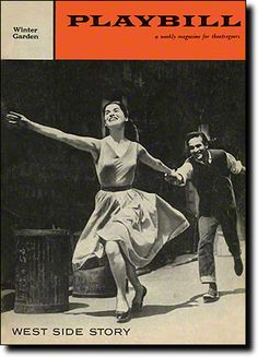 """Carol Lawrence and Larry Kert starred as Maria and Tony in """"West Side Story"""".  Leonard Bernstein wrote this classic.  It opened at the Winter Garden Theatre on September 26, 1957."""