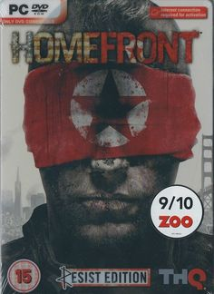 Homefront Resist Edition Steel Book  (PC DVD) BRAND NEW