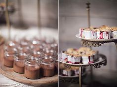 mini chocolate pudding + mini crumbles, via snippet and ink