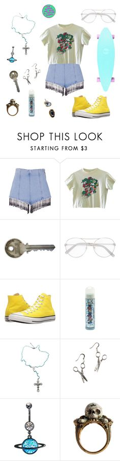 """""""We're beautiful people with beautiful problems"""" by lily-phipps ❤ liked on Polyvore featuring MSGM, Chloé, Converse, Child Of Wild, Halftone Bodyworks and Janna Conner"""