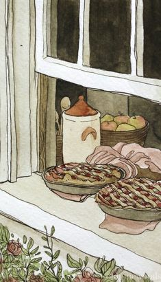 The House of Healing - oldpinewoods: Hemma : Watercolour & ink Studies. Aesthetic Art, Aesthetic Anime, Watercolor And Ink, Watercolor Paintings, Landscape Paintings, Watercolor Architecture, Art Sketchbook, Cartoon Wallpaper, Animes Wallpapers