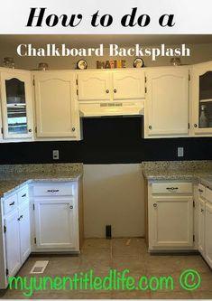 30 Trendiest Kitchen Backsplash Materials Chalkboard paint