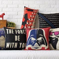 Star-Wars-Darth-Vader-Yoda-Sith-Espada-cubierta-Cojin-Cojin-Funda-Decoracion-del-Hogar