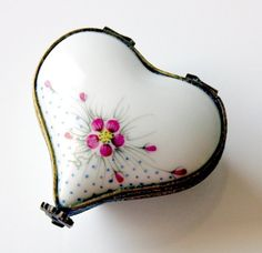 Heart Limoges Trinket Box