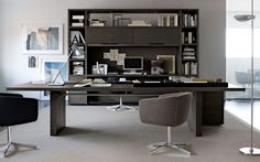Office furniture plays viral role in making a positive atmosphere in your… – Modern Corporate Office Design Modern Executive Desk, Executive Office Furniture, Office Furniture Design, Office Interior Design, Office Interiors, Office Designs, Grey Furniture, Space Furniture, Furniture Making