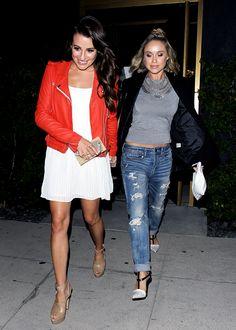 Lea Michele and Becca Tobin #friendshipgoals