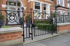 A cast iron style gate can add a touch of style and elegance to your London front garden. Front Gardens, Fence Ideas, Railings, Garden Projects, Gates, Cast Iron, Touch, London, Inspiration