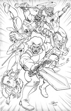 thundercats colouring in - Thundercats Coloring Pages To Print