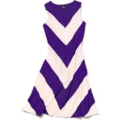 Slater Zorn Court Dress ($175) ❤ liked on Polyvore featuring dresses, tank dress, chevron pattern dress, chevron print dress, tank top dress and purple chevron dress