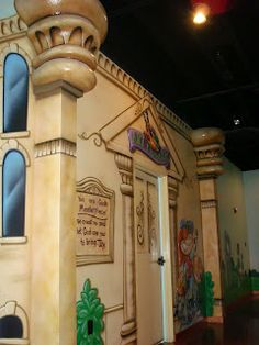 Worlds of Wow - sculpted foam that's airbrushed with the wall theming really makes a difference! This is from Destiny Christian Center and showcases our artists talents beautifully.