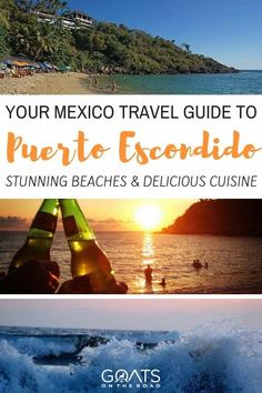 Puerto Escondido Oaxaca is a famous surfing destination, but there's much more to this Mexican beach town than the waves. Read all about it in this guide! I Love Mexico, Visit Mexico, Surfing Destinations, Amazing Destinations, Mexico Vacation, Mexico Travel, Central America, South America, Latin America