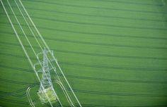 Electricity Pylon in fields near Littlebury, Essex, UK. [google map] (© Jason Hawkes) #