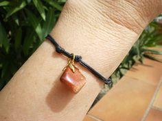 """Bracelet lithothérapie perles pierre de soleil """" joie de vivre"""" en pierre semi…"""