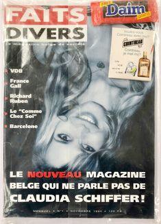 01/11/1994 - Magazine Faits Divers #2 Concept et rédaction: S. Degroodt France Gall, Claudia Schiffer, Album, Magazine, Movie Posters, Movies, Design, Winter Games, I Want You