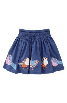 Mini Boden Appliqué Skirt (Little Girls & Big Girls)-applique one bird on… Little Girl Fashion, Little Girl Dresses, Kids Fashion, Girls Dresses, Mini Boden, Applique Skirt, Bird Applique, Cute Skirts, Girl Skirts