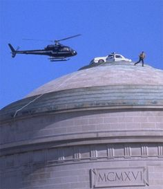 MIT hack (1994) - Police cruiser atop the Great Dome