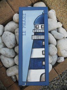 """Tableau """"le Phare"""" peinture acrylique : Peintures par les-toiles-de-mer-de-syl"""