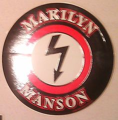 "Marilyn Manson Shock Logo 5"" STICKER DECAL deadstock new old stock"