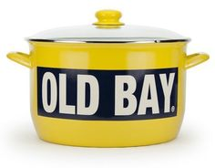 The stock pot is made of porcelain enamel fused on carbon steel. These are great for the outdoor shrimp and crab boil! The pots are durable and can be used in the oven, on the stove top, under the broiler and on the grill. The steel content makes them unsuitable for microwave use. #cottageandbungalow #enamelware #porcelainpot Cottages And Bungalows, Beach Kitchens, Old Bay Seasoning, Steel Rims, Nordstrom Anniversary Sale, Vintage Recipes, Serveware, Collection, Design