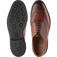 size 7 new images of los angeles Cheaney Hythe rubber-soled brogues in mahogany grain from Herring ...
