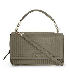 DKNY Gansevoort Quilted Leather Shoulder Bag. #dkny #bags #shoulder bags #hand bags #leather #