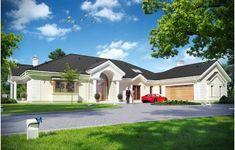 Projekt domu Rezydencja Parkowa - 258,96 m2 - koszt budowy 374 tys. zł Architectural Elements, Home Fashion, Bali, House Plans, New Homes, Exterior, How To Plan, Mansions, House Styles