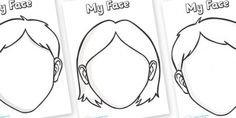 printabl blank, idea, blank face, school, templates, art journals, kids printable activities, funny faces, face templat