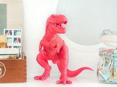 Spray painted dinosaur from Yellow Brick Home.