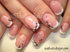 awesome Cherry Blossom nail art...